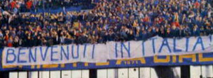 Striscione razzista dei tifosi del Verona