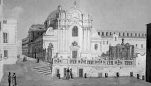 Chiesa di Severino e Sossio in una gauche dell'Ottocento