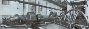 I potenti motori della Funicolare Centrale di Napoli nel giorno dell'inaugurazione
