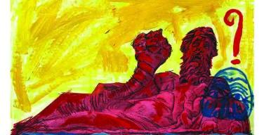 Così l'artista Lello Esposito vede la statua del Nilo