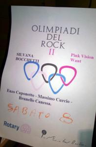 La locandina delle Olimpiadi del Rock