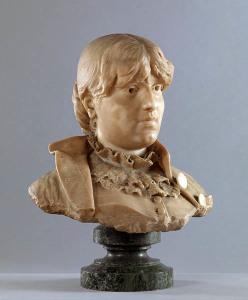 Federico Percopo, Busto di donna (Amelia), 1887, marmo