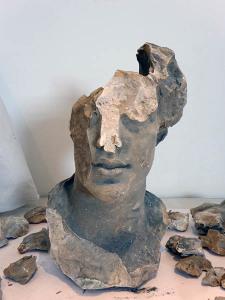 Francesco Jerace, Testa di donna, gesso