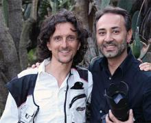 Luca Bracali a Napoli con Fernando Alfieri