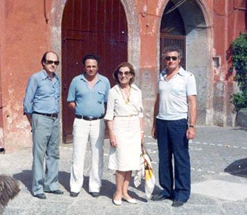 I fratelli Mazzella con Palma Bucarelli in una foto degli Anni Settanta