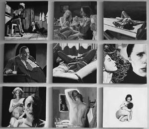 Bergman - 9 Fotogrammi, acrilico su legno 145x134.5cm