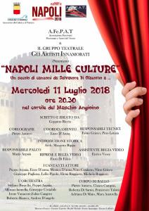 """La locandina dello spettacolo """"Napoli Mille Culture"""""""